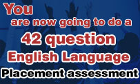 English Language placement assesment